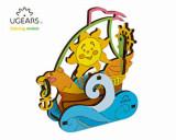 Cumpara ieftin Puzzle 3D de colorat - Velier, 15 piese