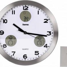 Ceas perete Hama 113982 Statie meteo AG-300 Argintiu