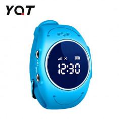 Ceas Smartwatch Pentru Copii YQT Q520S cu Functie Telefon, Localizare GPS, Istoric traseu, Apel de Monitorizare, Calitate somn, Pedometru, Albastru, C