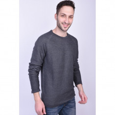 Pulover Jack&Jones Wind Crew Neck Gri Inchis