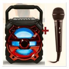 Boxa portabila bluetooth KTS-996 + microfon+ bec disco cu led