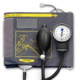 Cumpara ieftin Tensiometru mecanic Little Doctor LD 60, stetoscop atasat, manseta XL 33-46 cm, manometru metal, Negru/Gri