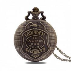 Ceas de buzunar Pava, model Retro Vintage, POLICE