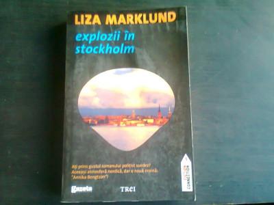 EXPLOZII IN STOCKHOLM-LIZA MARKLUND foto