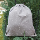 Rucsac imprimeu, rucsac cu snur, rucsac textil, rucsac tip sac, Din imagine
