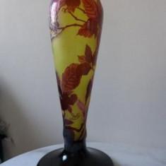 "Vas Galle Tip ""Buzau"" Inaltime 55 cm Veioza Vaza Picior lampa Sticla"