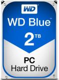 HDD WD Blue 2TB 5400 RPM 64MB cache SATA III 3.5 inch wd20ezrz, 2 TB, SATA 3, Western Digital