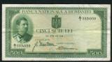 Romania 500 lei 1934  VF   P36a