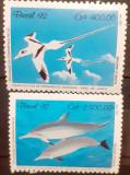 Cumpara ieftin Brazilia 1992 fauna pasari, pesti , fauna marina  serie 2v mnh, Nestampilat