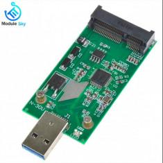 Adaptor USB 3.0 la mSATA SSD, Mini SATA