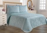 Cuvertură de pat Valentini Bianco din brocard, model Allegra Vernil