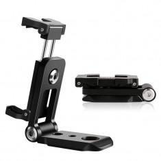 Suport metalic de telefon si camere actiune pentru birou, trepied, DSLR, accesorii foto, rotativ 360 grade