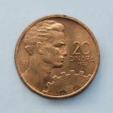 IUGOSLAVIA  -  20 Dinara 1955