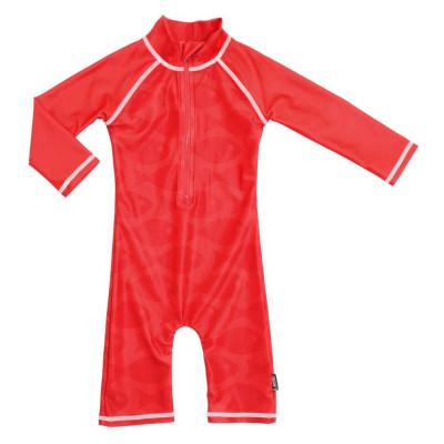Costum de baie Fish Red marime 86-92 protectie UV Swimpy for Your BabyKids foto