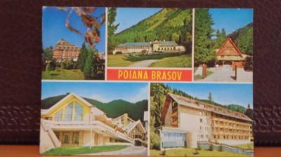 R.S.R. - POIANA BRASOV - 5 VEDERI DIN POIANA - NECIRCULATA DAR TIMBRATA. foto