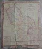 Harta cailor de comunicatie din judetul Vlasca// harta perioada interbelica