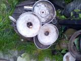 Lot 4 capace cromate masina veche de epoca.Dacia, WW