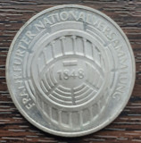 (A837) MONEDA DIN ARGINT GERMANIA - 5 MARK 1973, LIT. G, ADUNAREA NAT. FRANKFURT