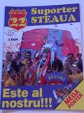 "Revista fotbal - ""Suporter STEAUA"" (Nr.9/2005)-poster stadion Ghencea"