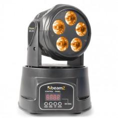 Beamz MHL90 MINI, cap rotativ, efect de lumină cu LED-uri, 5 x 18 W, RGBAW-UV 6 în 1