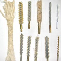 6521-Set Perii curatat Arme de vanatoare cu ustensile-10buc. Material alama.
