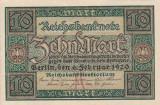 GERMANIA 10 marci 1920 XF+!!!