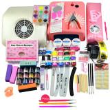 Kit Unghii False cu Gel UV - Promotie #09 + CADOU Set 3 Pensule Nail-Art