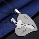 Pandantiv  i love you, cheie in inima, perfect pt Valentine's day si Dragobete