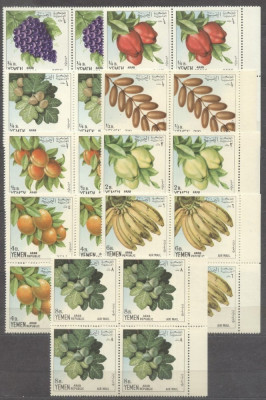 Yemen 1967 Fruits, x 4, MNH S.111 foto