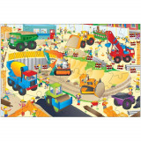 Giant Floor Puzzle: Santierul, 30 piese, 3 ani+, Galt