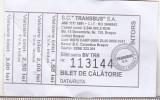 bnk  div Bilet Transbus SA Brasov - uzat