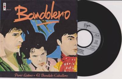 """Bandolero - Paris Latino (1983, Virgin) Disc vinil single 7"""" foto"""