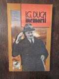 I.G.DUCA -MEMORII, VOL I