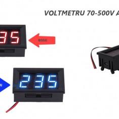 Voltmetru panou 70 - 500V 220V