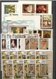 Ajman.Lot peste 160 buc. timbre stampilate serii si deparaiate+156 colite DL.53