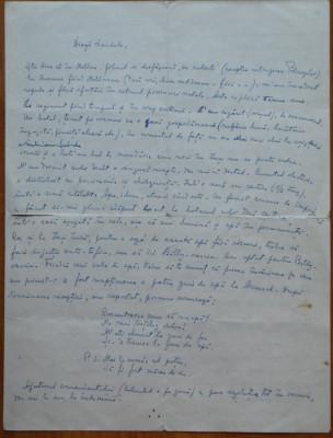 Scrisoare consistenta Pastorel ( Al. O. Teodoreanu ) , 4 foi mari foto