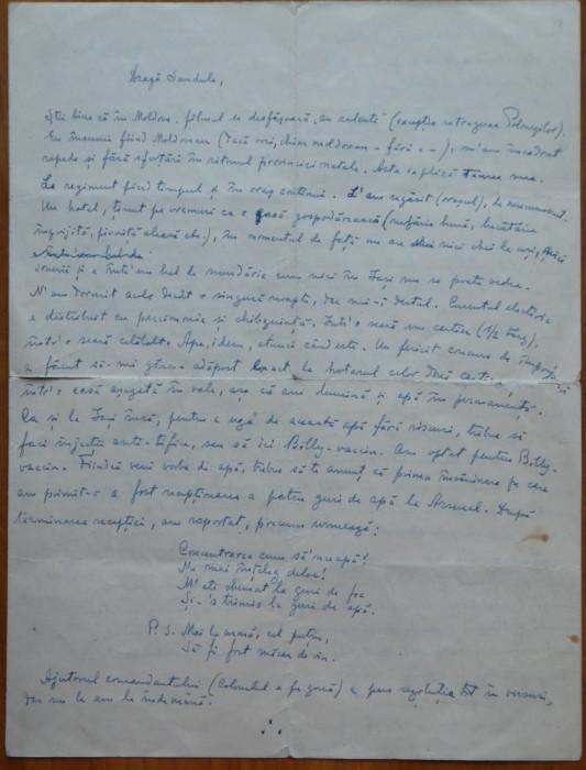 Scrisoare consistenta Pastorel ( Al. O. Teodoreanu ) , 4 foi mari