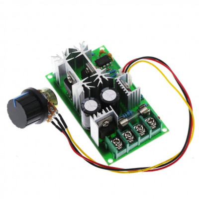 Variator regulator CONTROLLER TURATIE motor DC 12V 24V 60V PWM curent continuu foto