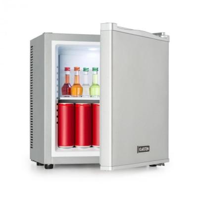 Klarstein Secret Cool, mini frigider, minibar, 13 l, clasa de eficiență energetică A+, 0dB, argintie foto