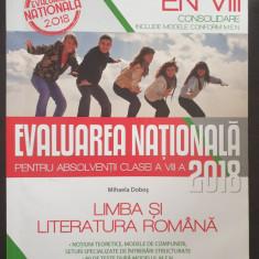 EVALUAREA NATIONALA 2018 LIMBA SI LITERATURA ROMANA CLASA A VIII-A Mihaela Dobos