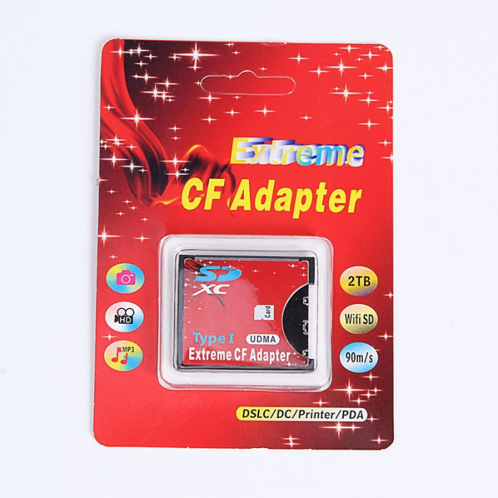 Adaptor carduri  SD SDHC la CF Compact Flash Tip I Card adaptor