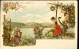 Carte postala ilustrata, Salutari din Germania, necirculata, cca 1900