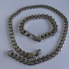 Lant din argint si bratara masive(2780)
