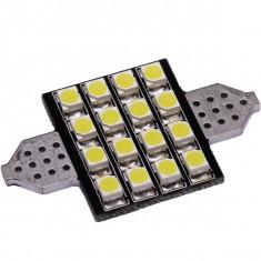Bec LED SOFIT 36MM 16 SMD 1210 12V ALBASTRU COD: PT33 ManiaCars