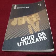 GHID DE UTILIZARE DBASE IV