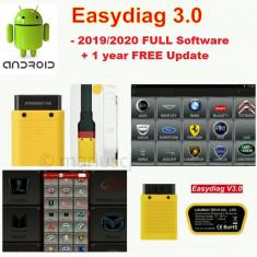 Tester multimarca Launch x431 Easydiag  3.0 (2.0) , soft 2019 Full update Online