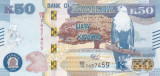Bancnota Zambia 50 Kwacha 2018 - PNew UNC ( noi elemente de siguranta )