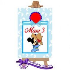 Numere masa pentru botez Mickey Mouse Handmade by Diana Puiu NMBM 3