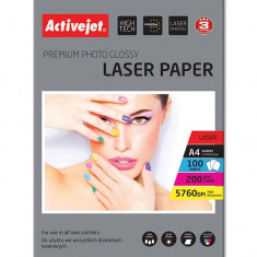 Hartie foto A4 Premium 200 Grame Glossy, top 100 coli, Activejet, Laser