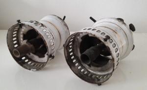 lampa veche pe gaz JACOBUS D.R.P.126135 (lot 2 buc.)